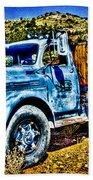 Blue Truck Beach Towel