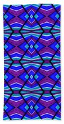 Blue Turquoise And Purple Beach Towel
