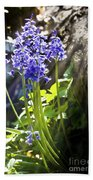 Bluebells In The Woods Beach Towel