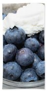 Blueberries And Cottage Cheese Beach Towel