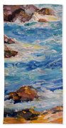Blues And Browns Beach Towel