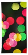 Blurred Christmas Lights Beach Towel