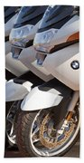 Bmw Police Motorcycles Beach Towel