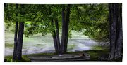 Boat By The Pond 2 Beach Towel