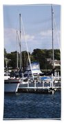 Boat Harbor In Dunkirk New York Beach Towel