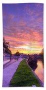 Boat Inn Sunrise 1.0 Beach Towel