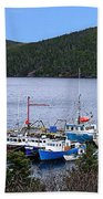 Boat Lineup Beach Towel