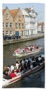 Boat Tours In Brugge Belgium Beach Towel