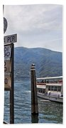 Boat Trip On Lake Maggiore Beach Towel