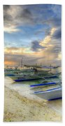Boats Of Panglao Island Beach Towel