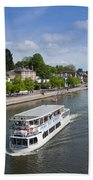 Boats On River Dee Beach Towel