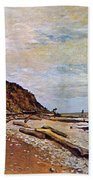 Boatyard Near Honfleur Beach Towel by Claude Monet