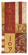 Bohemian Red Spice 1 Beach Towel