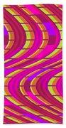 Bold Swirl  Beach Towel by Louisa Knight