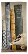 Bone Collector Library Beach Towel by Heather Applegate