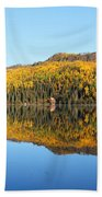 Bonnie Lake Reflections Beach Towel