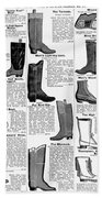 Boots Advertisement, 1895 Beach Towel
