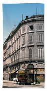 Bordeaux - France - Rue Chapeau Rouge From The Palace Richelieu Beach Towel by International  Images