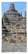 Borobudur Mahayana Buddhist Monument Beach Towel
