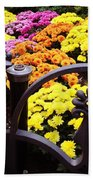 Boston Flowers Beach Towel