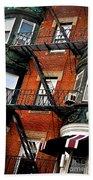 Boston House Fragment Beach Towel by Elena Elisseeva