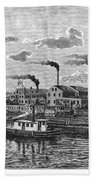 Boston: Iron Foundry, 1876 Beach Towel