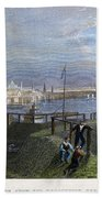 Boston, Mass., 1838 Beach Towel