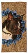 Boston Terrier Love Beach Towel