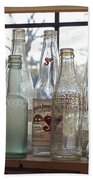 Bottles On The Shelf Beach Sheet