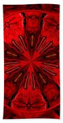 Bouquet Of Roses Kaleidoscope 6 Beach Towel
