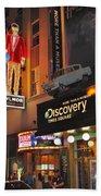 Bowlmor Lanes At Times Square Beach Towel