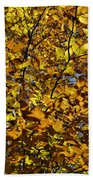 Branches Of Gold Beach Towel
