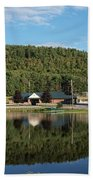 Brant Lake Reflections Beach Towel