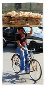 Bread On A Bicycle Beach Towel