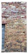 Brick Wall Window Beach Towel
