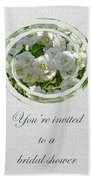Bridal Shower Invitation - White Spirea Beach Towel