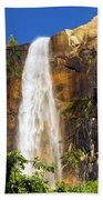 Bridal Veil Falls At Yosemite Beach Towel