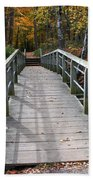 Bridge Into Autumn Beach Towel