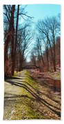 Bridge Number 2 Along The Delaware Canal Beach Towel