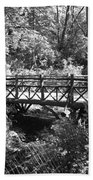Bridge Of Centralpark In Black And White Beach Towel