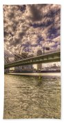 Bridge Over Rotterdam  Beach Towel