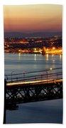 Bridge Over Tagus Beach Towel