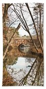 Bridge Reflections Beach Towel