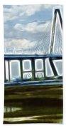 Bridge To Charleston Beach Towel