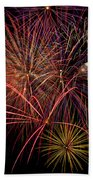 Bright Colorful Fireworks Beach Towel