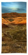 Brightly Painted Hills Beach Towel