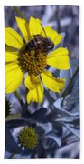 Brittlebush Bee Beach Towel