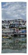 Brixham Harbour - Panorama Beach Towel