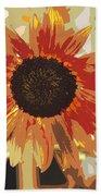 Bronze Sunflower Beach Towel