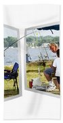 Brothers Fishing - Oof Beach Towel